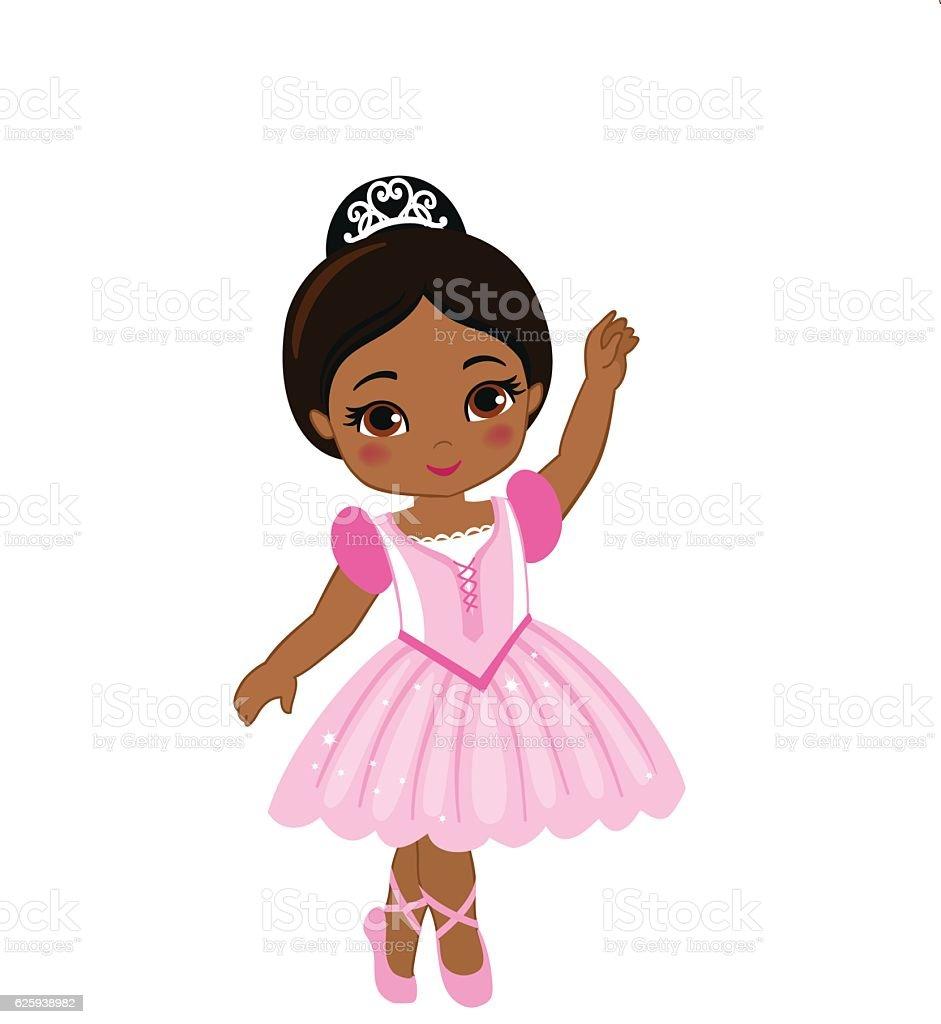 vector illustration of cute little ballerina stock vector art more rh istockphoto com