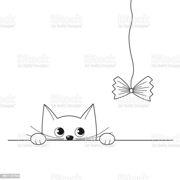 Vector illustration of cute peeking kitten playing with a cat toy vector id981125794?b=1&k=6&m=981125794&s=612x612&h=j6z63q4mcjcjzdvilifcyubft7n8ncu0xboheiburtw=