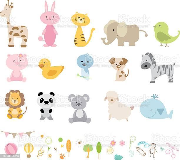 Vector illustration of different wild animals cartoons vector id601019024?b=1&k=6&m=601019024&s=612x612&h=sz4mj xg56aio5yd3rmlbofa4izbgdbeycb88lretju=
