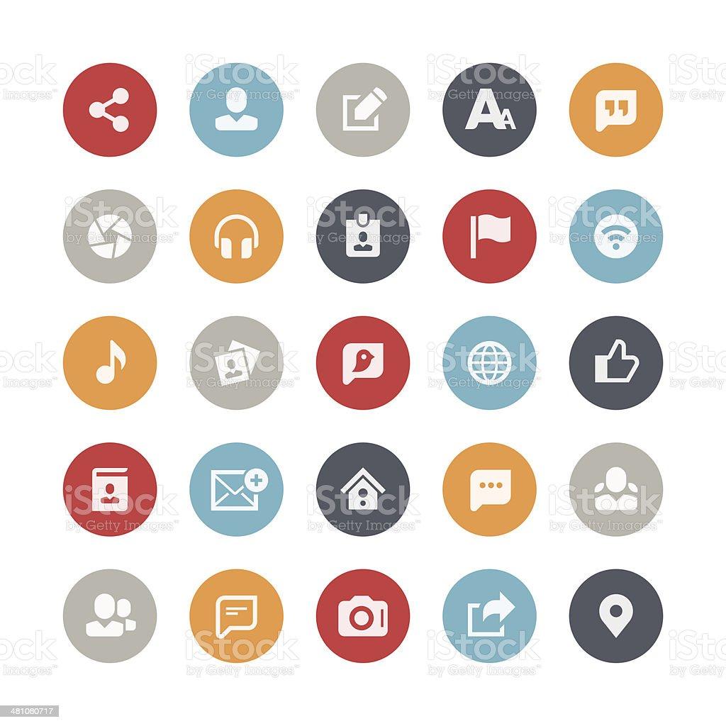 Vector illustration of digital media icons vector art illustration