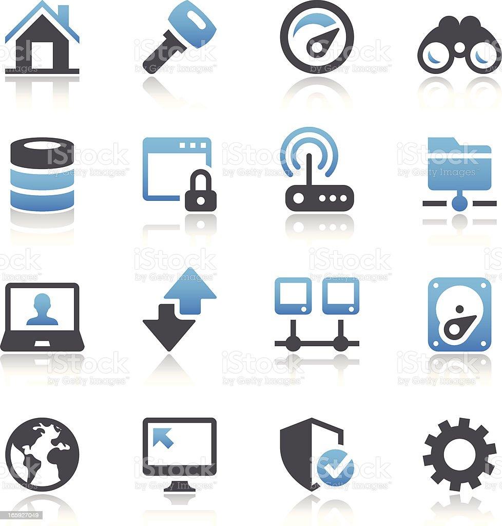 Vector illustration of digital systems icons vector art illustration