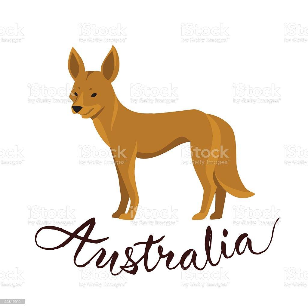 Vector Illustration Of Dingo Symbol Of Australia Stock Vector Art