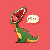 Vector illustration of dinosaur is roaring