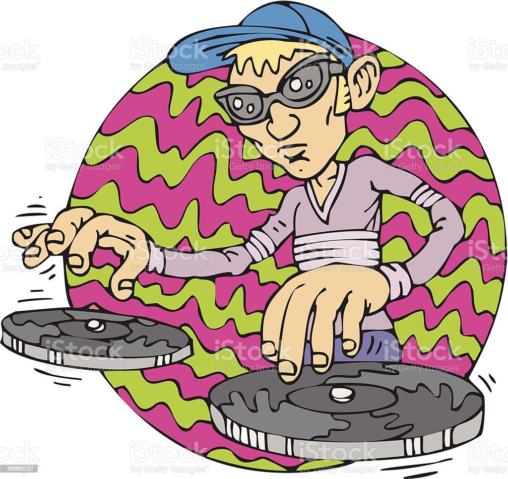 Vector illustration of disc jockey royalty-free stock vector art