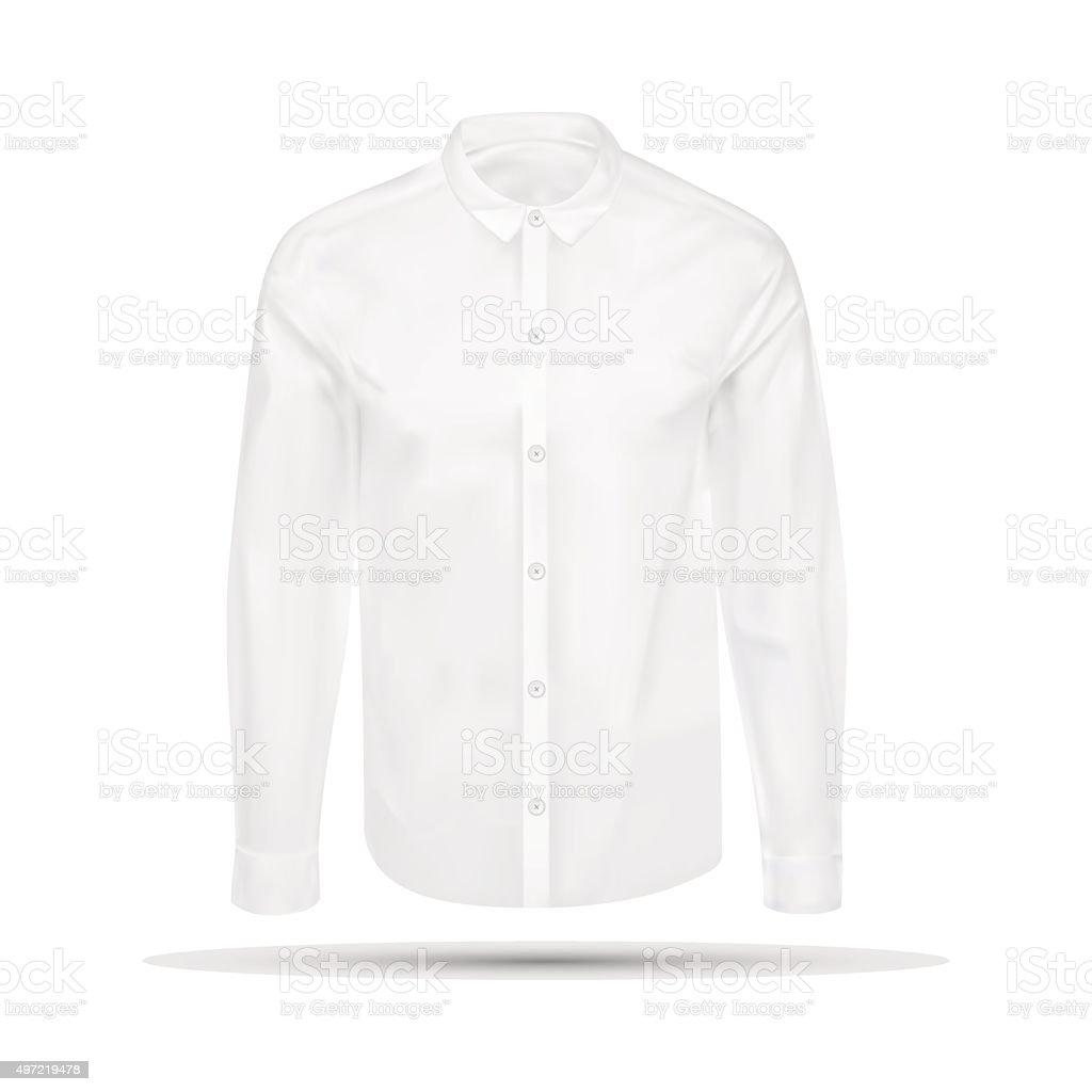 Vector illustration of dress shirt vector art illustration