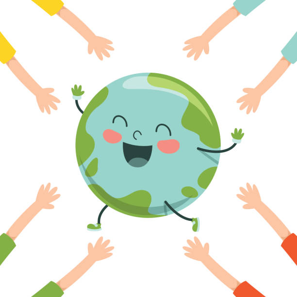 vector illustration of earth day - earth day stock illustrations