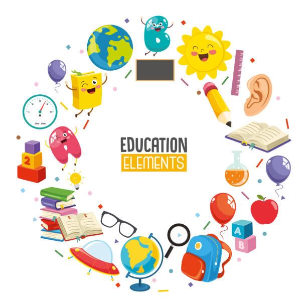 Vector Illustration Of Education Concept Design Vector Illustration Of Education Concept Design preschool teacher stock illustrations