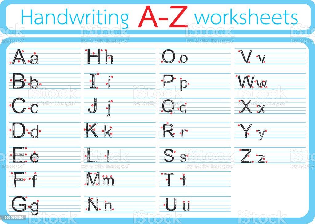 Vector illustration of English A-Z Writing - Royalty-free Alphabet stock vector