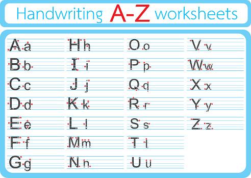 Vektorillustration Von English Writing Az Stock Vektor Art und mehr Bilder von Alphabet
