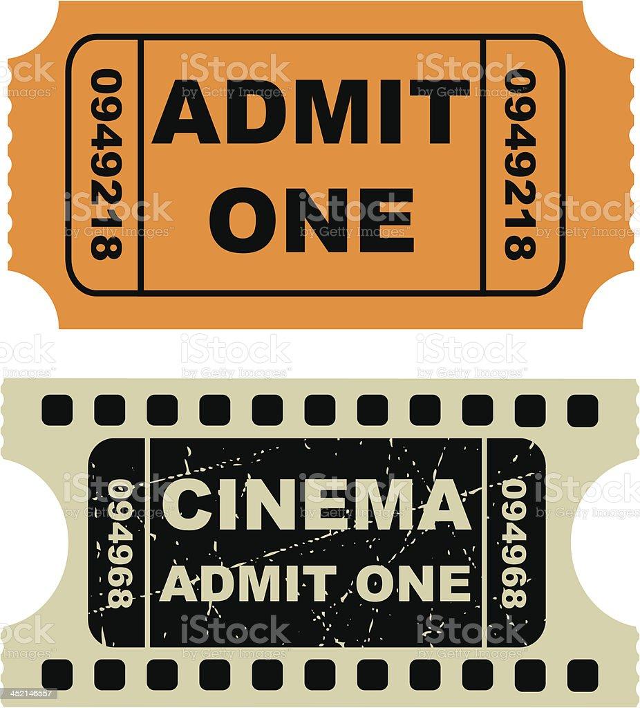 Vector illustration of entertainment tickets vector art illustration