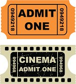 Vector illustration of entertainment tickets