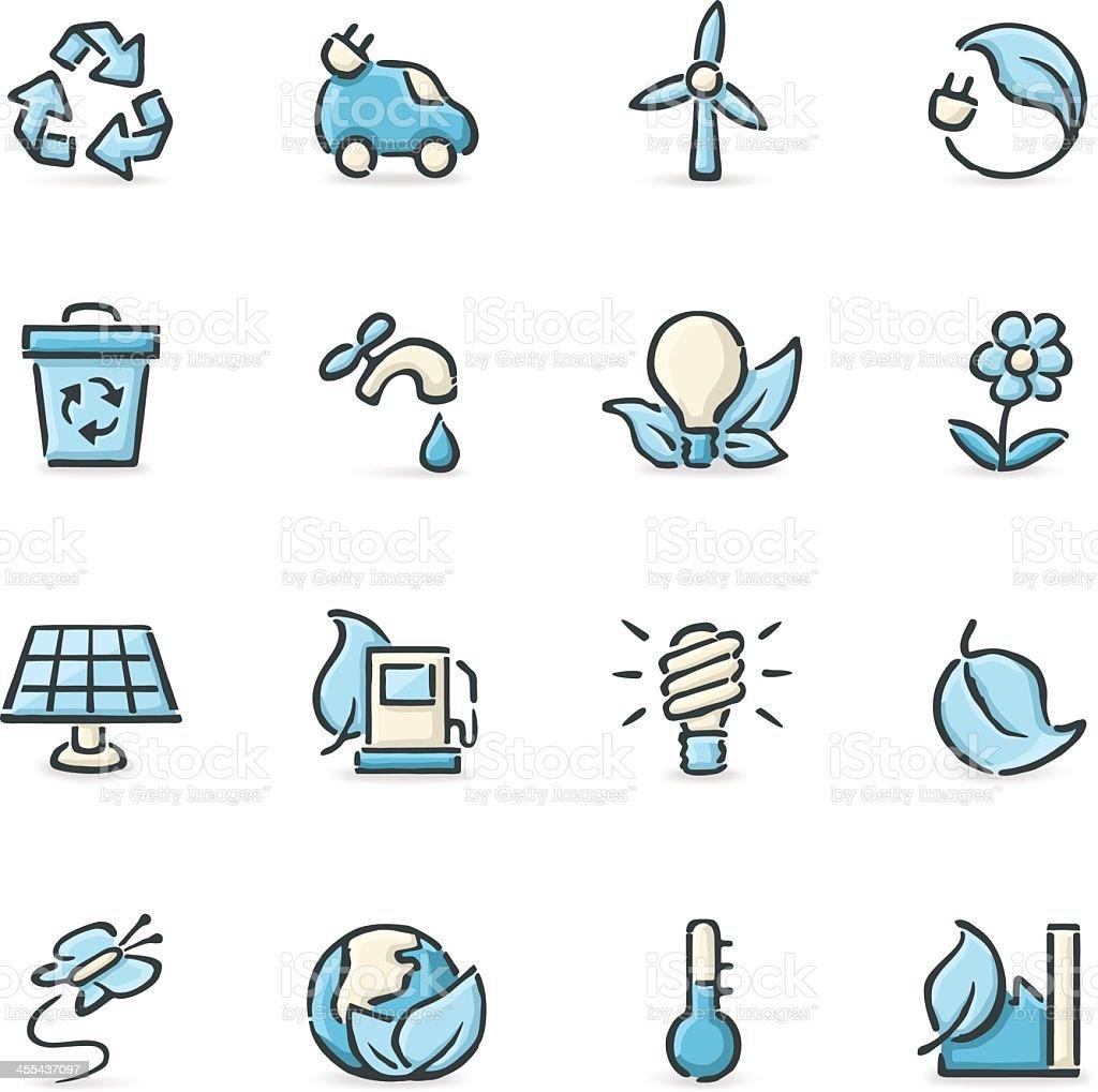 Vector illustration of environmental icons royalty-free stock vector art