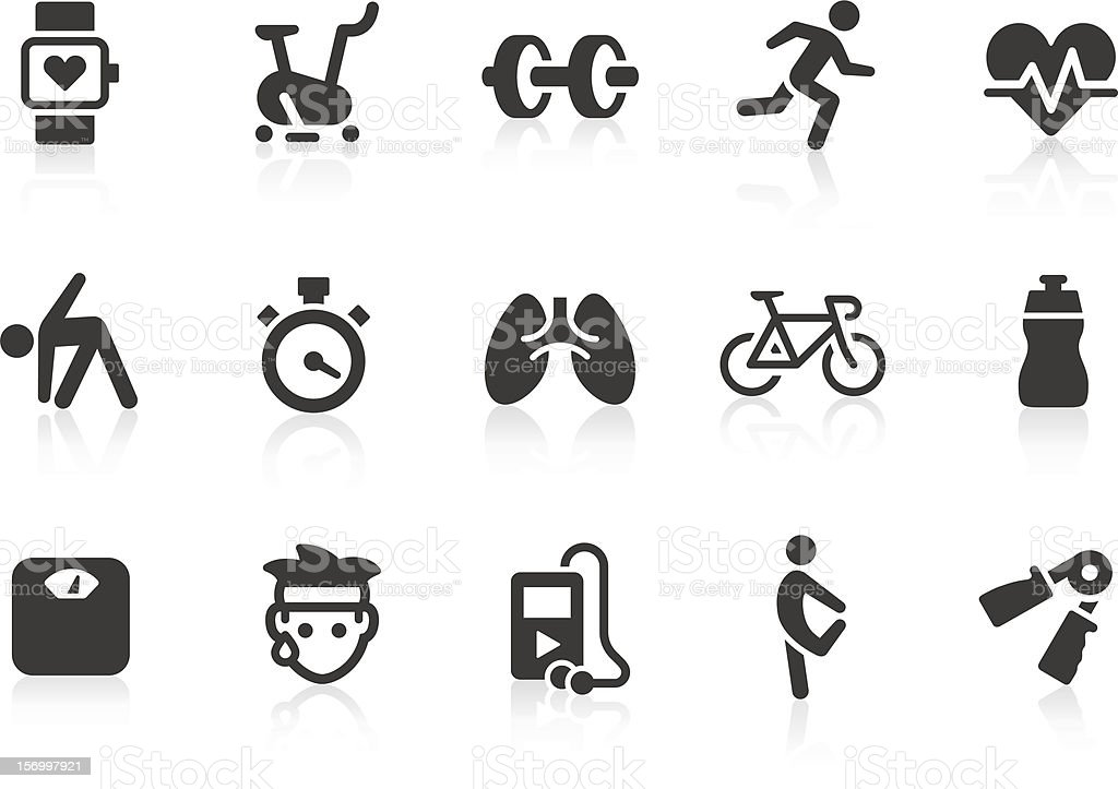 Vector illustration of exercise icons vector art illustration