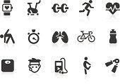 Vector illustration of exercise icons