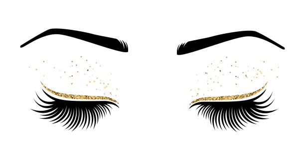 長睫毛眼的向量圖示 - 睫毛 幅插畫檔、美工圖案、卡通及圖標