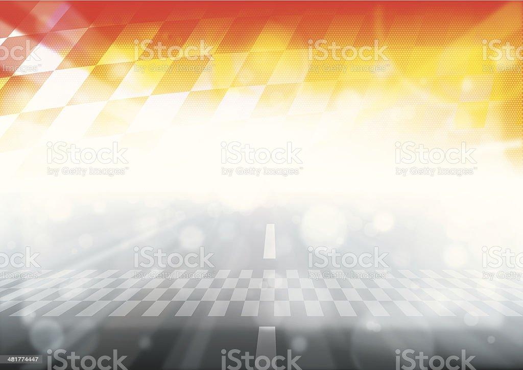 Vector illustration of F1 racing vector art illustration