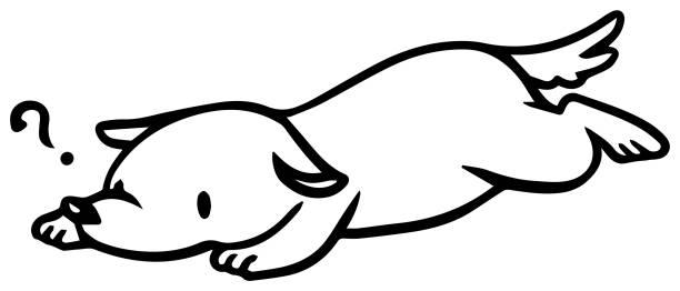 illustrazioni stock, clip art, cartoni animati e icone di tendenza di vector illustration of fallen dog - china drug