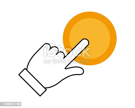 istock Vector illustration of fingers. Index finger. 1295601736