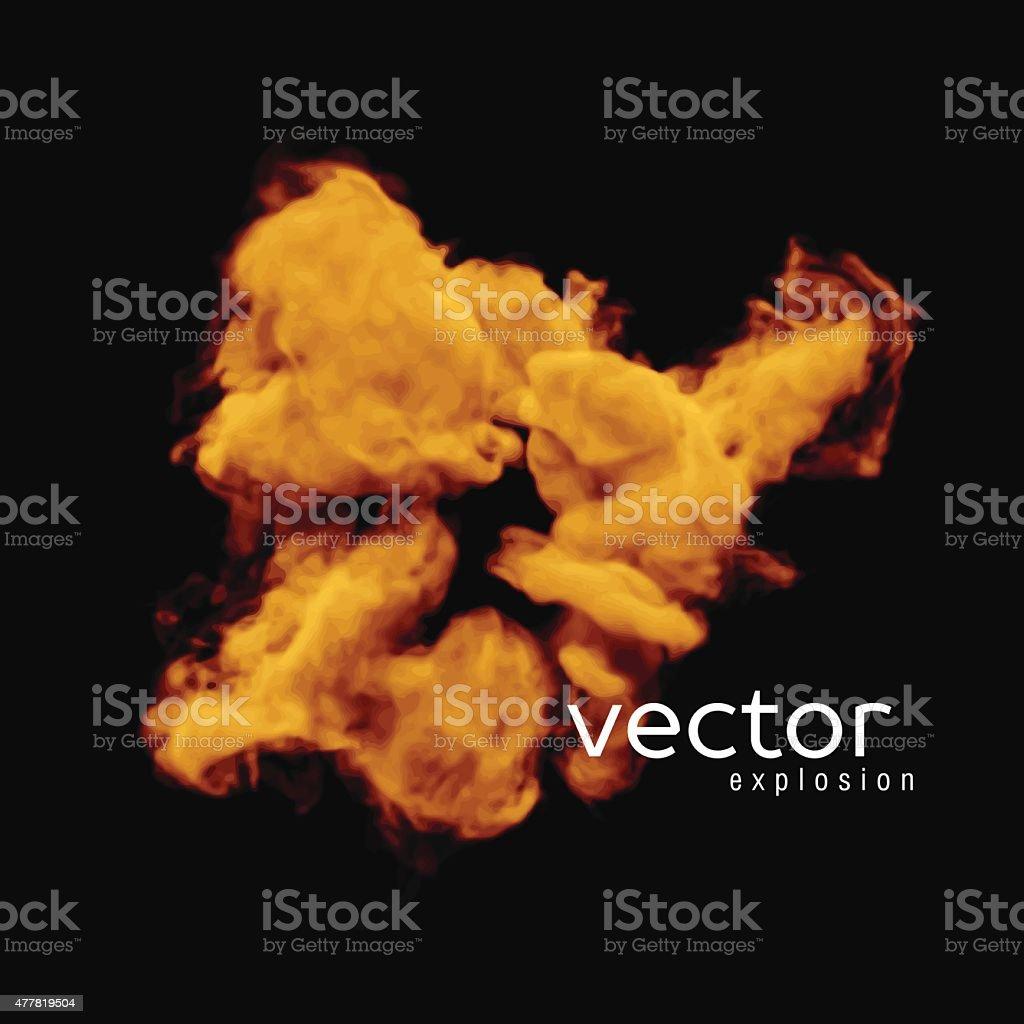 Vector illustration of fire explosion vector art illustration