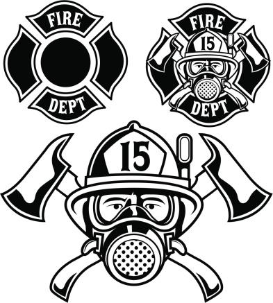 Vector illustration of firemen badge