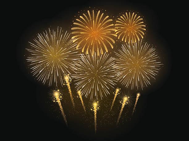 ilustracja wektorowa z sztucznych ogni celebration - new year stock illustrations