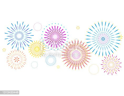 istock Vector illustration of fireworks. 1313430448