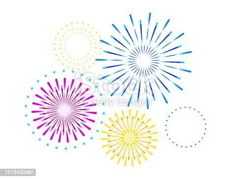 istock Vector illustration of fireworks. 1313430461