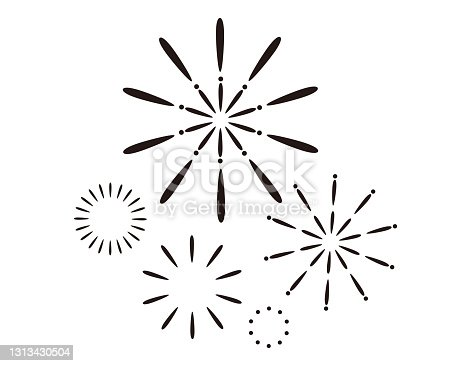 istock Vector illustration of fireworks. 1313430504