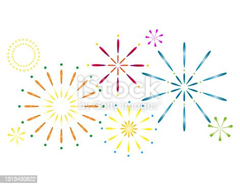 istock Vector illustration of fireworks. 1313430522