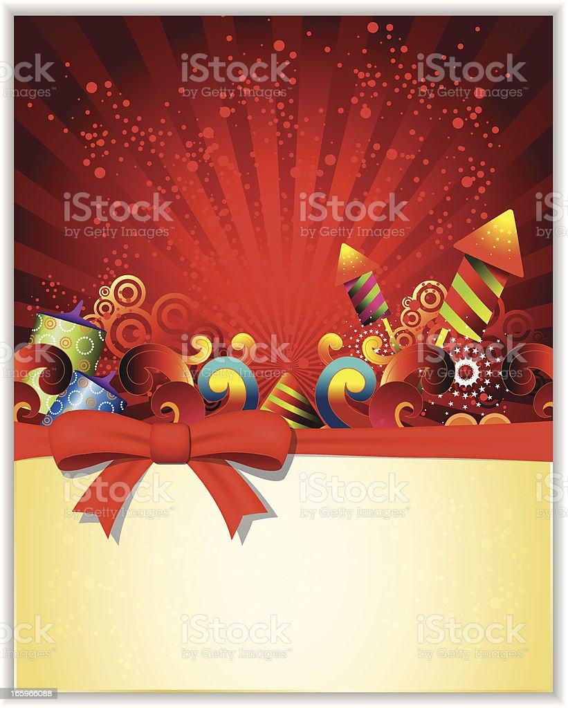 Vector illustration of fireworks royalty-free stock vector art