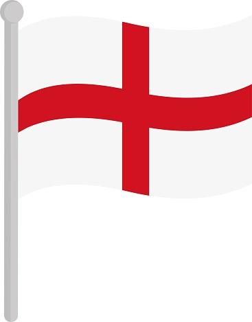 Vector illustration of  flag of England emoticon