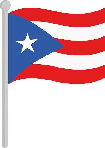 Vector illustration of flag of Puerto Rico emoticon