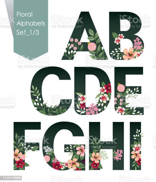Vector illustration of floral alphabets collection a set of beautiful vector id1140129568?b=1&k=6&m=1140129568&s=612x612&h=tsj6kczdevzbgmbpb0aajsqfmjhw knc9tm781lhnio=