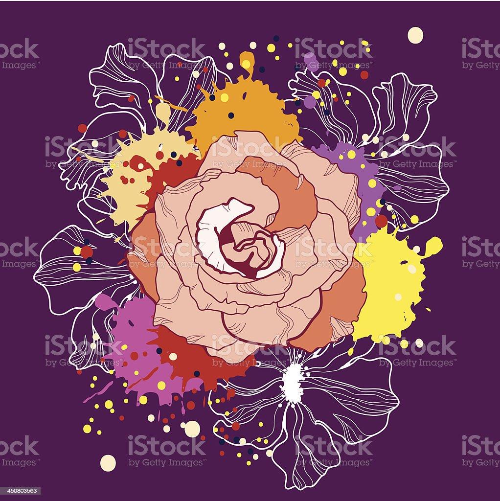 Vector illustration of flowers royalty-free stock vector art