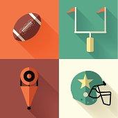 Vector illustration of football symbols