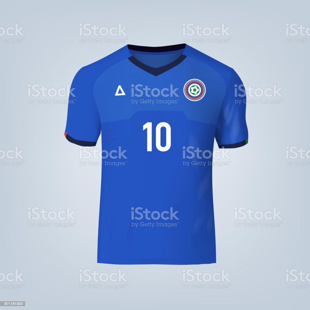 Vector Illustration Of Football Tshirt Template Stock Vector Art