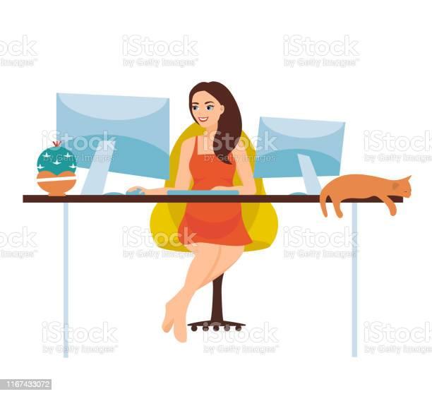 Vector illustration of freelance work a pregnant girl is working on a vector id1167433072?b=1&k=6&m=1167433072&s=612x612&h=e6k tpolufoul9cit3gc9ogiceb59cgs169u txb9wa=