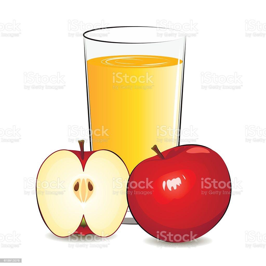 Vector illustration of fresh apple juice – Vektorgrafik