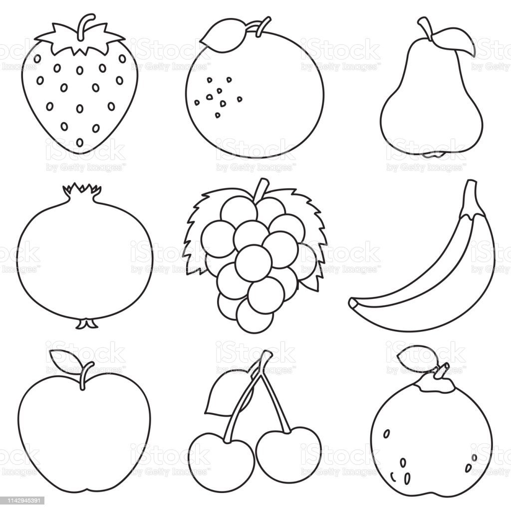 - Fruit Coloring Pages Free Vector Art - (18 Free Downloads)