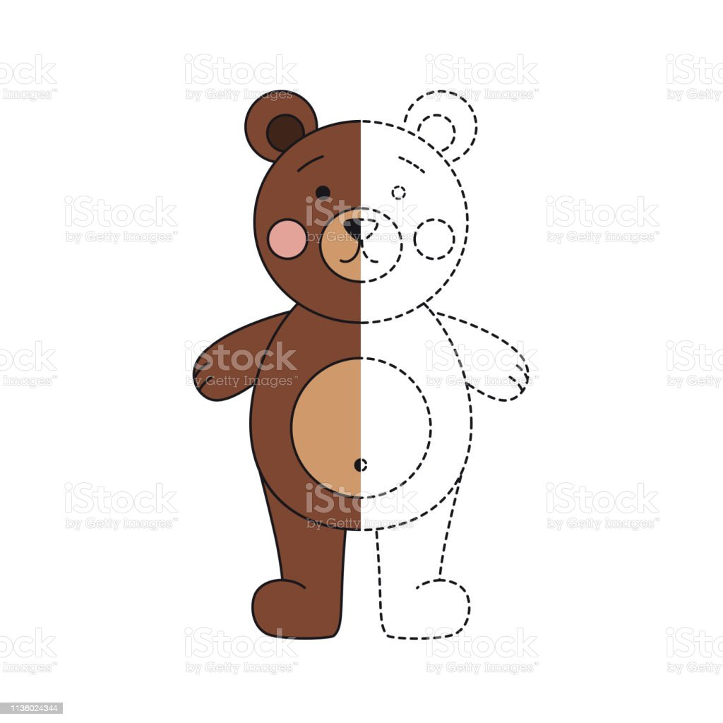 - Vector Illustration Of Funny Bear For Coloring Book Stock