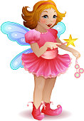 Vector illustration of funny fairy