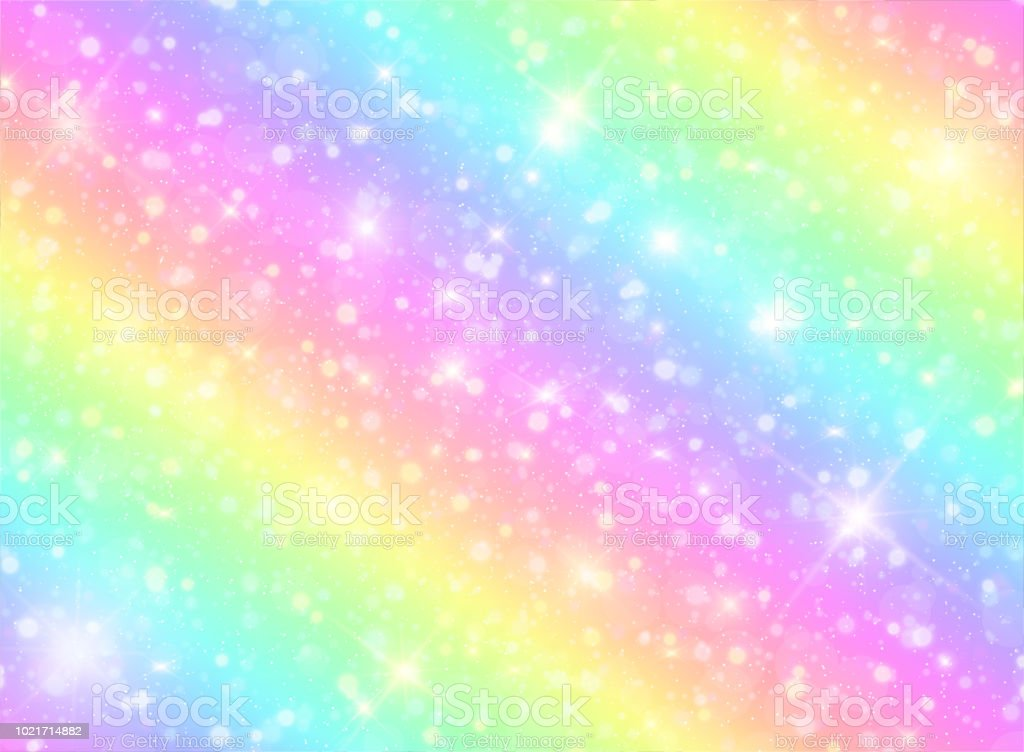 Vector Illustration Of Galaxy Fantasy Background And Pastel