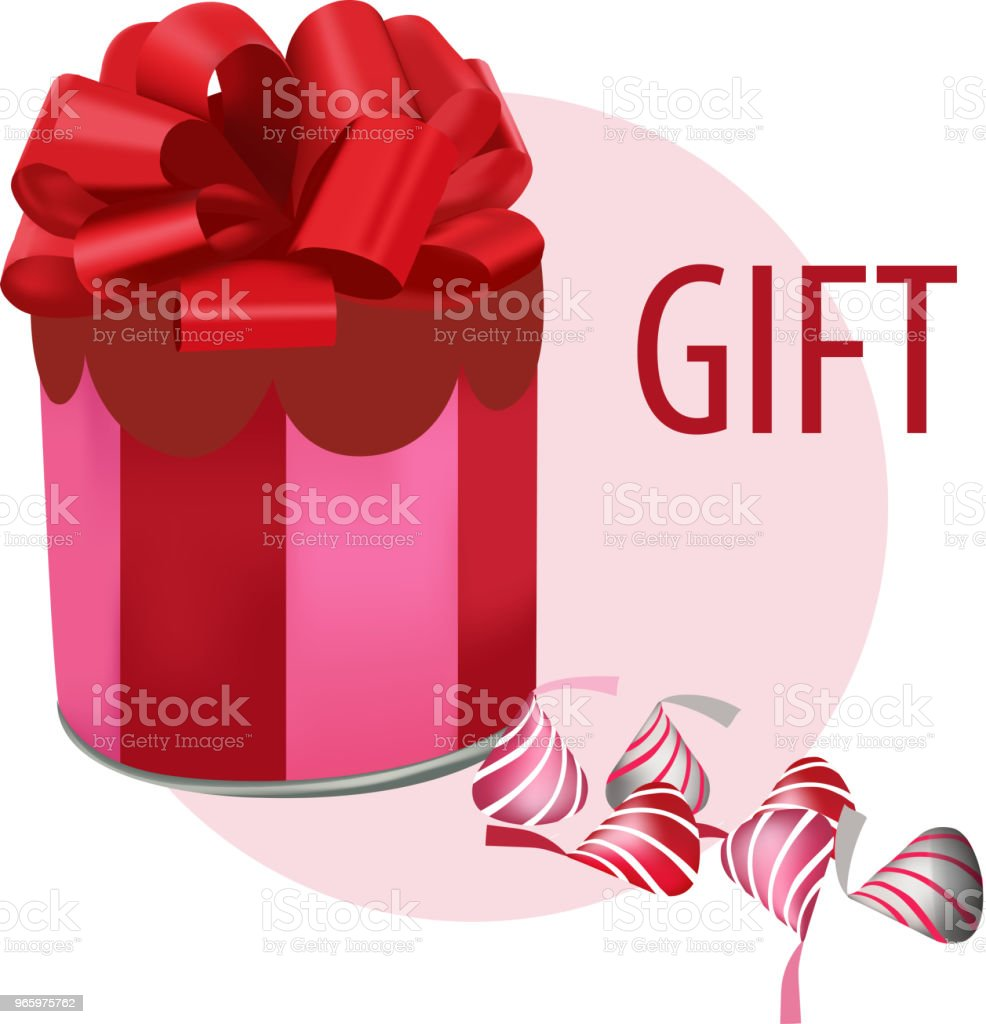 Vector illustration of Gift Vector illustration of Gift Basket stock vector