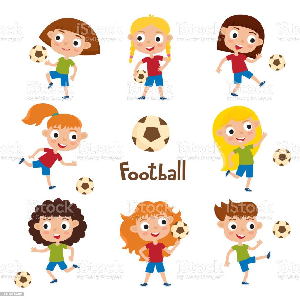 女の子のシャツとショートのベクトル イラスト サッカー
