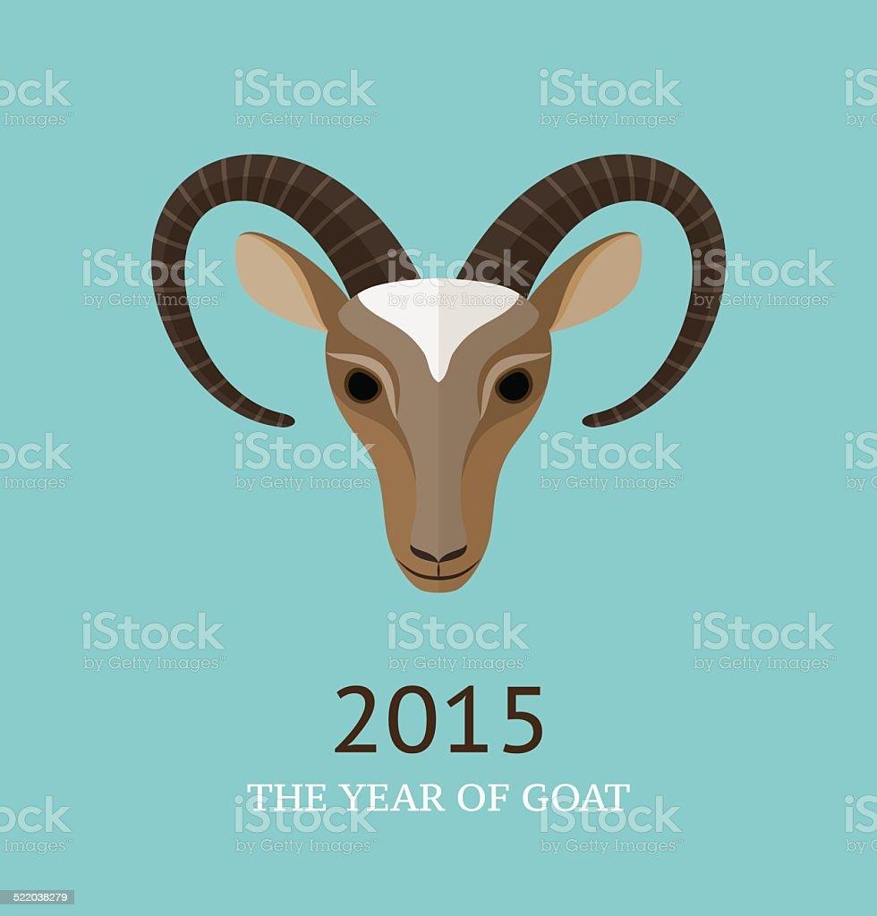 Vector illustration of goat, symbol of 2015 vector art illustration