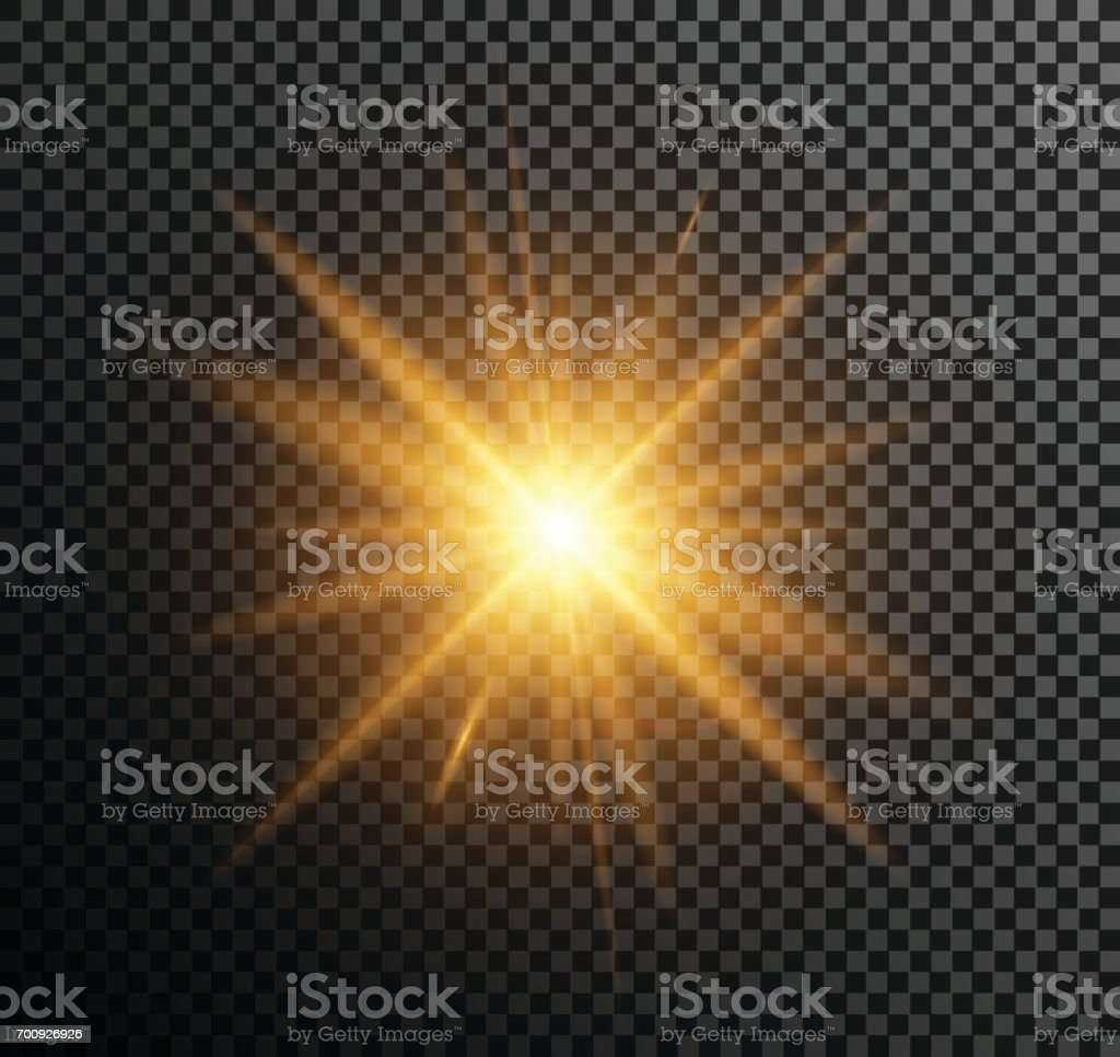 Vector illustration of golden light vector art illustration