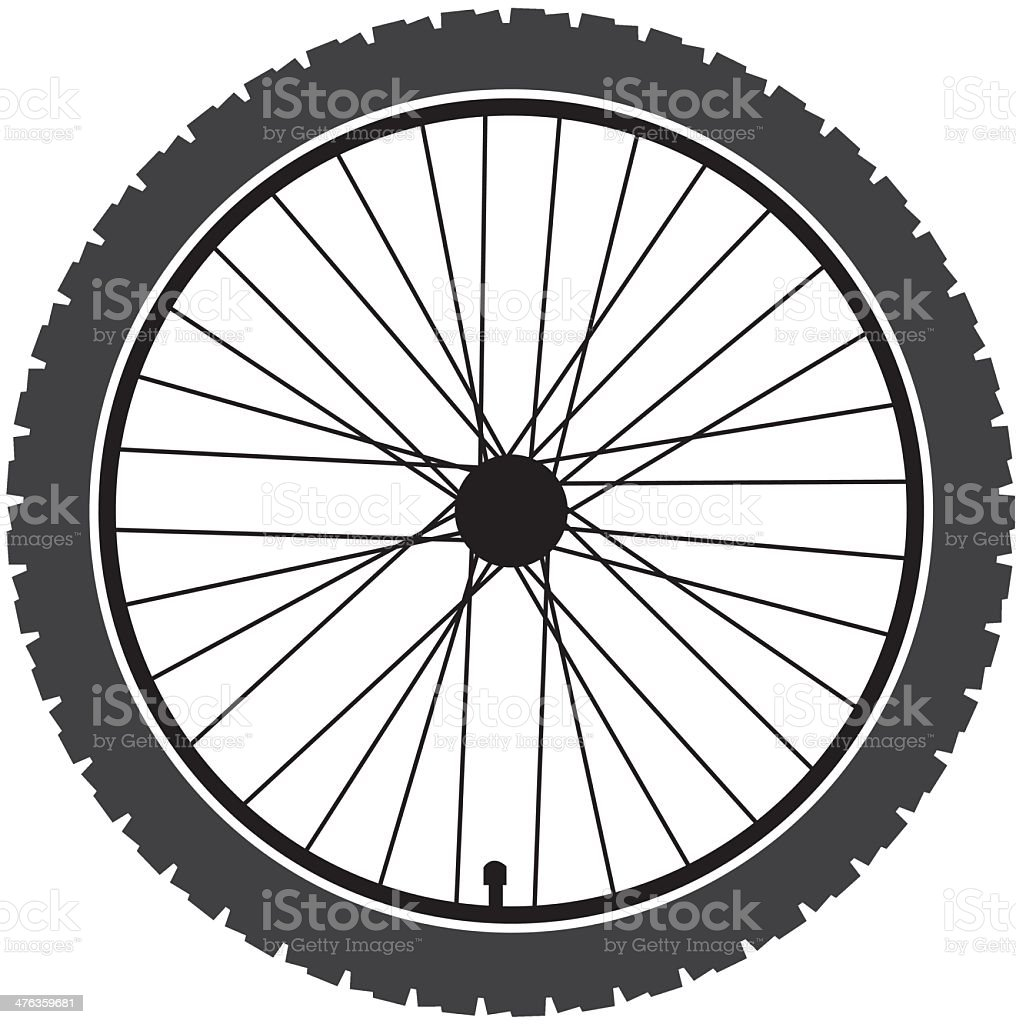 Vector illustration of gray bicycle wheel royalty-free stock vector art