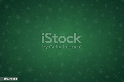 Vector Illustration of green starry background
