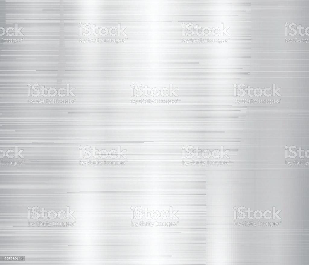 Vector illustration of grey metal, stainless steel texture background vector art illustration