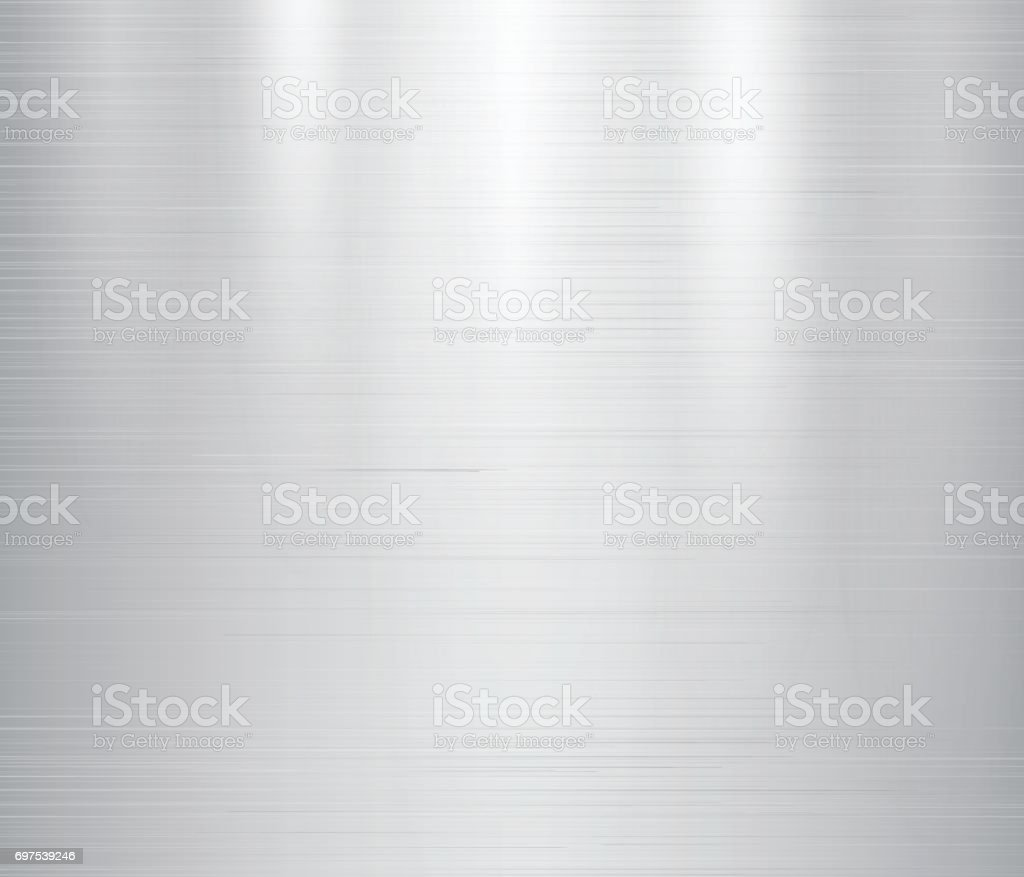 Vector illustration of grey metal, stainless steel texture background vector art illustration